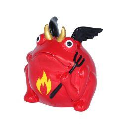 Frogmania devil Freddy Pomme Pidou, tirelire grenouille diable