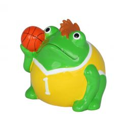Frogmania basketball Pomme Pidou, tirelire grenouille basketteur