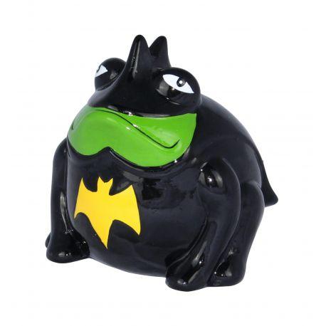 Frogmania Fredman Pomme Pidou, tirelire grenouille Batman