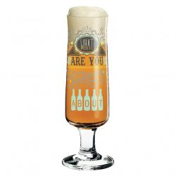 Beer Drinking About, Verre à bière par Frank Keller, Ritzenhoff