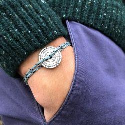 Noroit bracelet corde noir et gris Vent à la Française