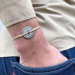 Le Zéphir bracelet sable boussole bronze Le Vent à la Française