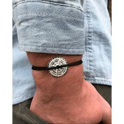 Vent d Argent Noir bracelet argent 925° Vent à la Française