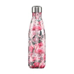CHILLY'S - Bouteille isotherme Tropical Flamant rose 500ml étanche