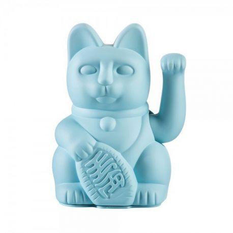 Maneki Neko Lucky Cat Blue chat japonais porte-bonheur