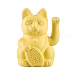 Maneki Neko Lucky Cat Donkey, Yellow chat japonais porte-bonheur