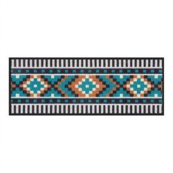 Pixel, Tapis de patio 45 x 120 cm multicolore, Derrière la porte