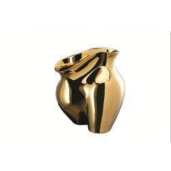 La Chute, vase en porcelaine dorée Rosenthal de Cédric Ragot