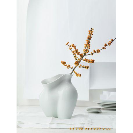 La Chute Vase Porcelaine Blanche Design Cédric Ragot