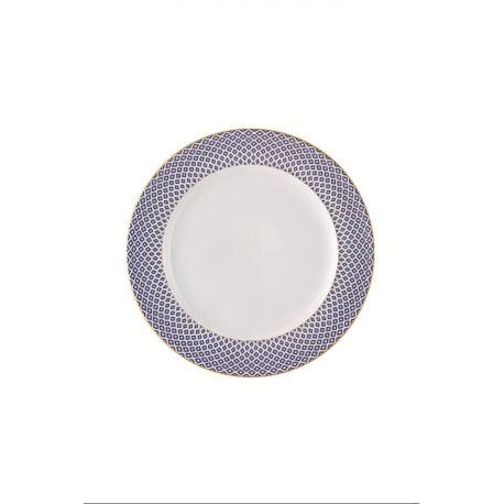 Francis Carreau Bleu Rosenthal, assiette dessert, plate, creuse