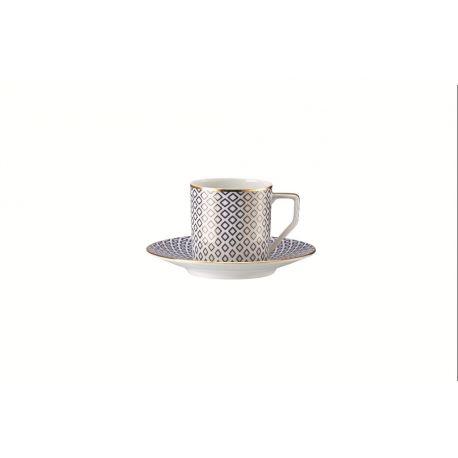 Francis Carreau Bleu Rosenthal, Tasse à café avec soucoupe