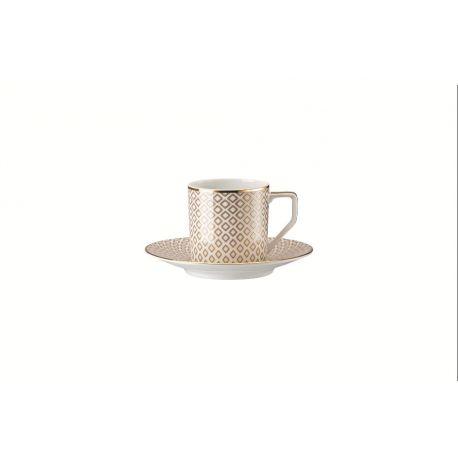 Francis Carreau Beige Rosenthal, Tasse à café avec soucoupe