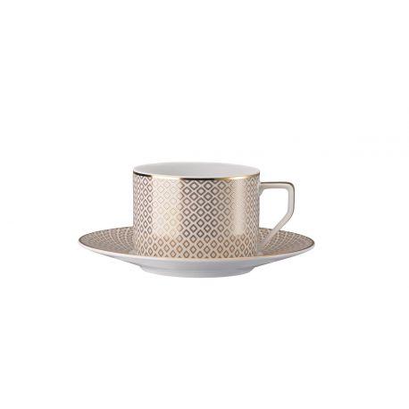 Francis Carreau Beige Rosenthal, Tasse à thé avec soucoupe