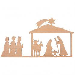 Räder Petite crèche silhouette en bois à poser, 30 x 16,5 cm