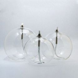 Lampe à huile Peri Glass, boule en verre soufflé
