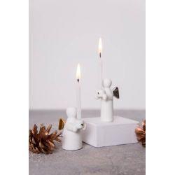 Räder Ange Gardien, Mini bougeoir porcelaine, Décor Or ou Argent