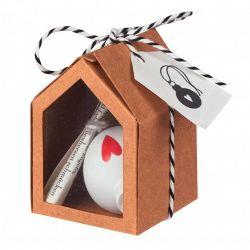 Räder Little Christmas Mini Boule de Noël Coeur en boite cadeau
