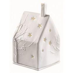 Räder Maison décor arbre étoiles photophore porcelaine blanche