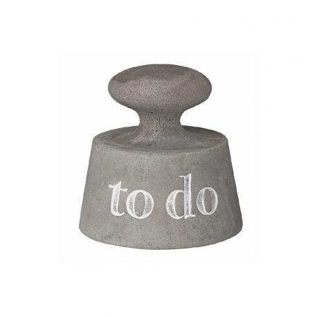Räder Paperpoetry «To Do», Presse papier en béton brut gravé