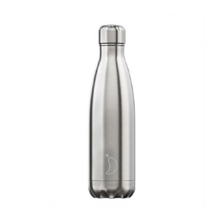Chilly s Bottle Bouteille isotherme Chrome 500ml, 100% étanche