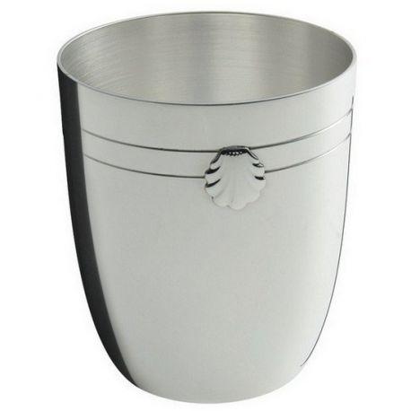 Coquille - Timbale Ercuis - en métal argenté pour baptême