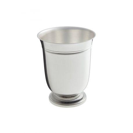 Godrons - Timbale Ercuis - en métal argenté pour baptême