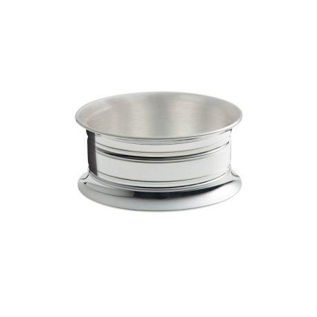 Suffren - Rond de serviette Ercuis - en métal argenté pour baptême