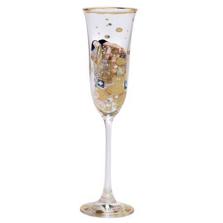 Klimt L Accomplissement, Flûte à champagne décorée, Artis Orbis