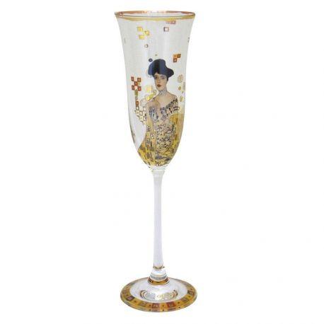 Klimt Adèle Bloch-Bauer, Flûte à champagne décorée, Artis Orbis