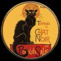 Le Chat noir de Steinlen - Miroir de poche refermable