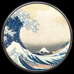 La Vague de Hokusai - Miroir de poche refermable