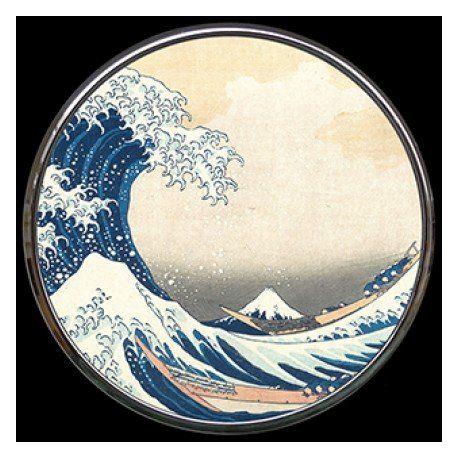 La Vague de Hokusai - Miroir de poche refermable