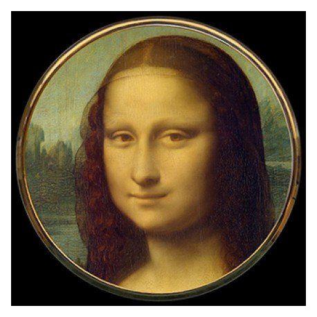 La Joconde par De Vinci - Miroir de poche refermable