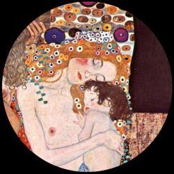 Les 3 âges de la vie de Gustav Klimt - Presse-papier, verre 8cm