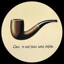 Ceci n est pas une pipe de Magritte - Presse-papier en verre 8cm
