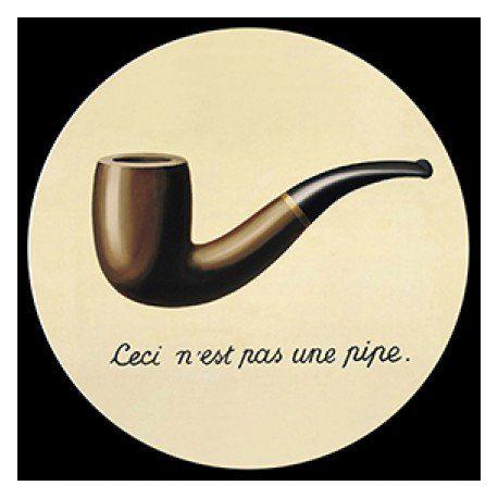 """Presse-papier en verre """"Ceci n'est pas une pipe"""" de Magritte 8 cm"""