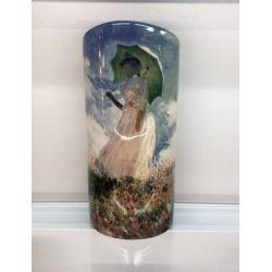 Femme à l ombrelle de Monet - Vase céramique 25 cm - Parastone