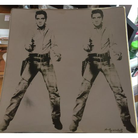 Double Elvis - Coupe porcelaine murale Andy Warhol - Rosenthal