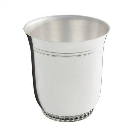 Perles - Timbale Ercuis - en métal argenté pour baptême