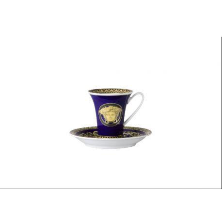 ROSENTHAL VERSACE - Medusa Blue Tasse et soucoupe à café