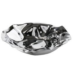 Sarria corbeille Alessi inox, noir ou blanc design Lluis Clotet