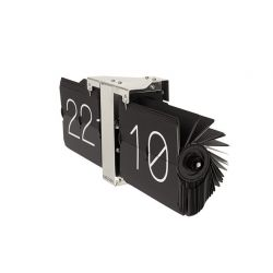 No case, horloge Flip Flap noire ou chrome Karlsson