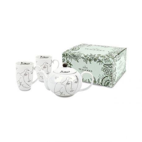 Service à thé 3 pièces Théière Picasso, 2 mugs Weimar Porzellan