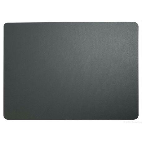 Asa set de table leather optic simili cuir basalte 33x46 cm
