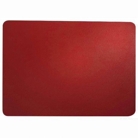 Asa set de table leather optic simili cuir rouge 33x46 cm