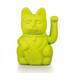 Maneki Neko Lucky Cat Donkey, Neon Green chat porte-bonheur