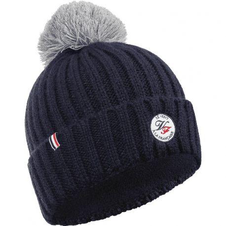 Le Givré bonnet avec pompon Le Vent à la Française, bleu et gris