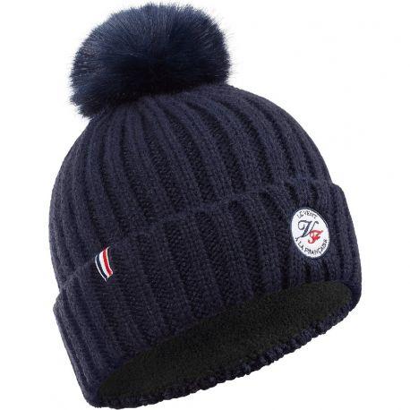 L avalanche bonnet à pompon Le Vent à la Française, coloris bleu