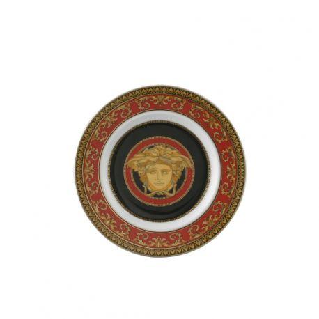 VERSACE - Medusa Assiette Porcelaine Rouge 18 cm ou 30 cm