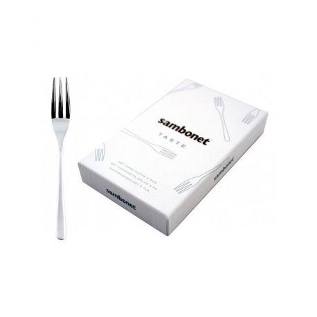 Taste - Coffret 6 fourchettes à gâteau inox - Sambonet